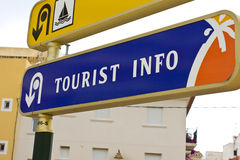Tourist Information. A tourist Information sign indicating the location of the tourist office Stock Photography
