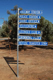 Tourist information. At the town in Western Australia Stock Photos