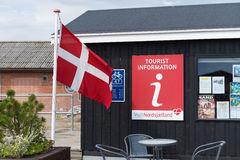 Tourist information in denmark Stock Image