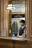 Tourist information desk. Shot of Grand Central tourist information desk in New York City.Photo taken on Feb 20th, 2011 Stock Images