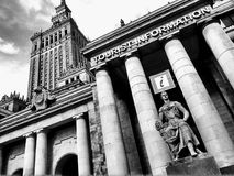 Tourist information point in Warsaw Poland Royalty Free Stock Image