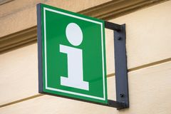 Tourist Information Sign. An Information sign for a Tourist Information building Royalty Free Stock Image