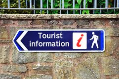 Tourist information sign, Leominster. Royalty Free Stock Photos