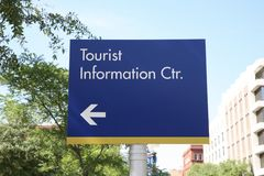 Tourist Information Sign Royalty Free Stock Photography