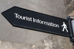 Tourist Information Sign. A sign showing the direction to a tourist information Royalty Free Stock Images