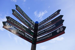 Tourist information Signpost Stock Photography