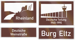 Tourist Information Signs In Germany Stock Image
