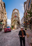 Tourist in Istanbul Royalty Free Stock Image