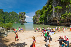 Tourist on James Bond Island Stock Images