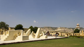 Tourist at Jantar Mantar (Jaipur), India Stock Image