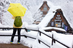 Tourist in Japan at winter Stock Image