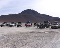 Tourist Jeeps, Bolivia Royalty Free Stock Images