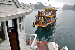 Tourist junks in Halong Bay, Vietnam Stock Photo