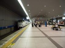 Tourist at Kansai station. Osaka, Japan, June 27, 2014 :  Passengers at the platform in Kyoto Station on Jun 27, 14 in osaka. It is a major railway station and Stock Photos