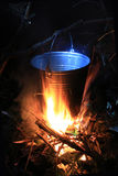 Tourist kettle on fire Stock Image