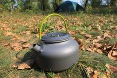 Tourist kettle Stock Photo
