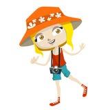Tourist kid Stock Photos