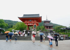 Tourist at Kiyomizu Temple Stock Photos