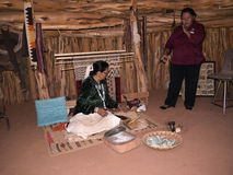 Tourist learning about the Navajo Way of Life Stock Photos