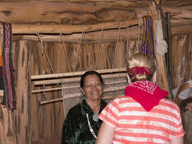 Tourist learning about the Navajo Way of Life Royalty Free Stock Photo