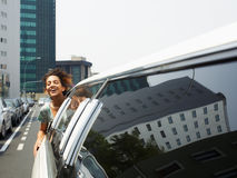Tourist on limousine Stock Image
