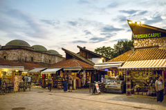 Tourist and locals in Sarajevo Royalty Free Stock Photos