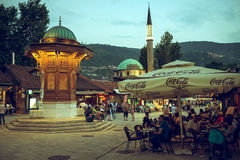 Tourist and locals in Sarajevo Royalty Free Stock Photography
