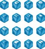Tourist Locations Cube Icon Se Royalty Free Stock Photos
