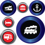 Tourist locations icon set Stock Photos