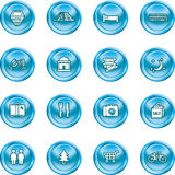 Tourist locations icon set Royalty Free Stock Photography