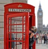 Tourist in London Stockfotos
