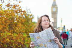 Tourist in London looking for direction Royalty Free Stock Photos