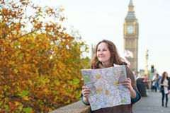 Tourist in London looking for direction Stock Images