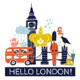 Tourist London Poster Royalty Free Stock Photo
