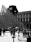 Tourist at Louvre museum Royalty Free Stock Image