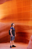 Tourist in Lower Antelope Canyon in USA Stock Photos