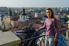 Tourist in Lublin (Poland) Stock Images