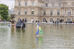 Tourist in  Luxembourg Garden - Paris. Stock Photography