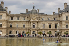 Tourist in  Luxembourg Garden - Paris. Stock Image