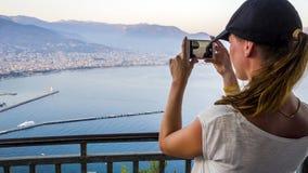 Tourist macht Foto stockfoto