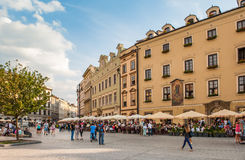 Tourists in Krakow Royalty Free Stock Image