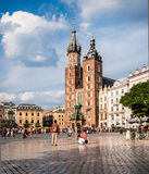 Tourists in Krakow Stock Photos