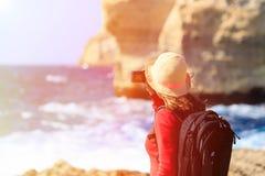 Tourist making photo of Azure Window in Gozo Stock Photography