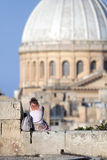 Tourist in Malta Stock Photography