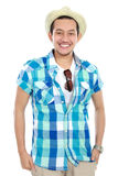 Tourist man smiling Royalty Free Stock Photos