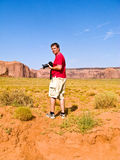 Tourist, man is taking pictures Royalty Free Stock Images
