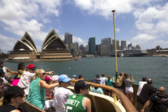 Tourist on Manley ferry-2 Royalty Free Stock Photography
