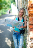 Tourist with map Royalty Free Stock Photos