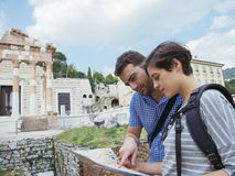 Tourist map italy Stock Photography