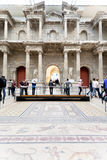 Tourist in Market gate Hall of Pergamon museum Stock Images